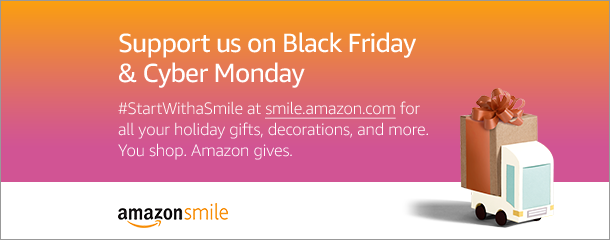 Support us at smile.amazon.com